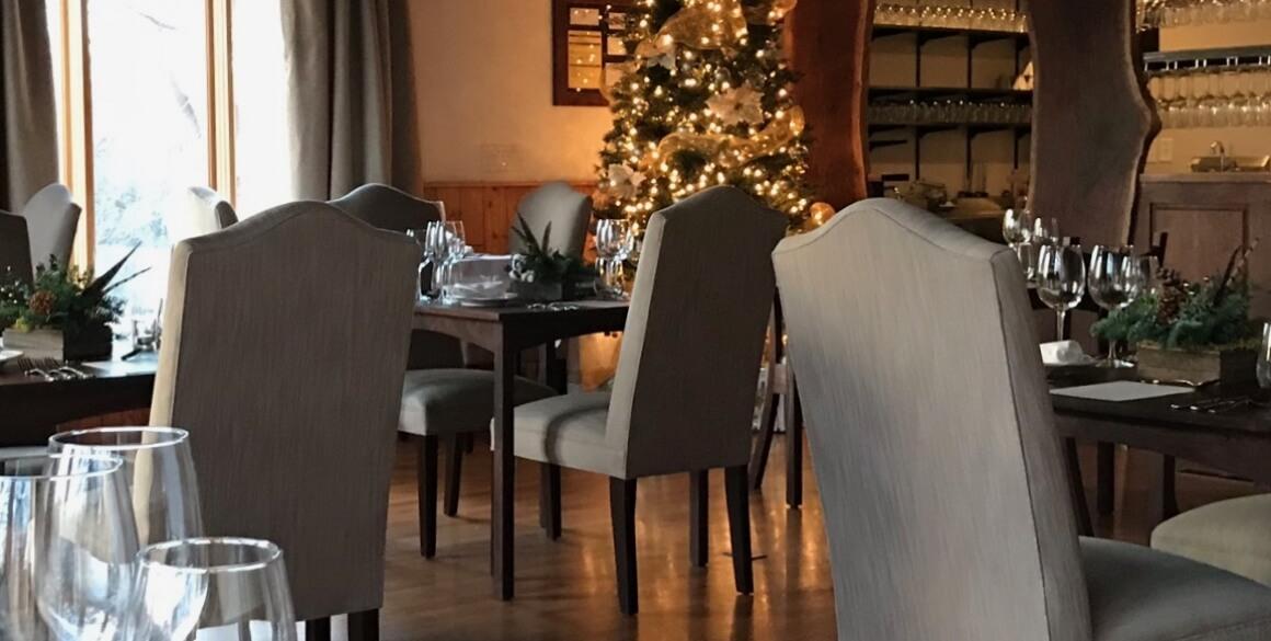 Dining at Elderslie Farm at Christmas