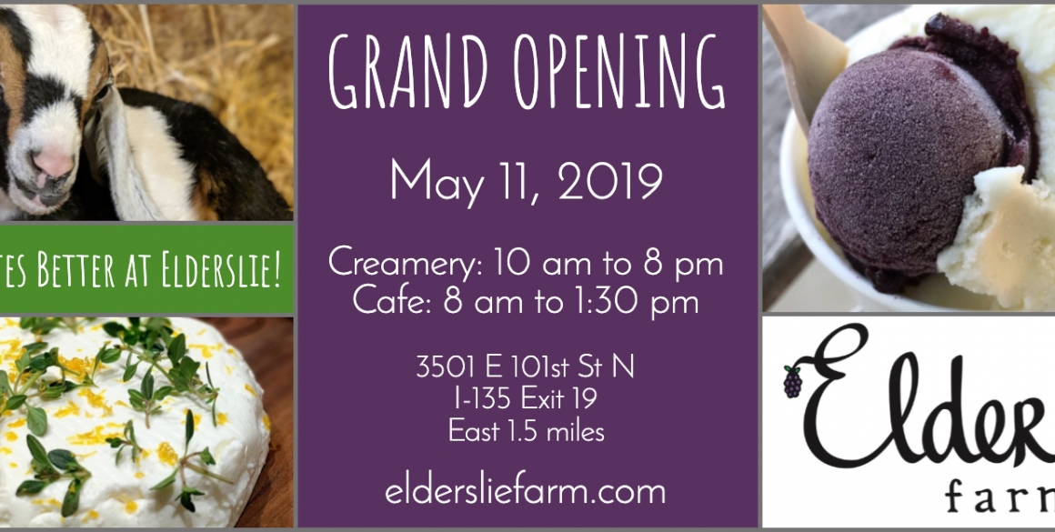 Creamery and Cafe Opening May 11, 2019